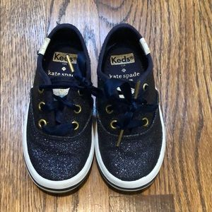 Kate Spade by Keds toddler girl blue sneakers
